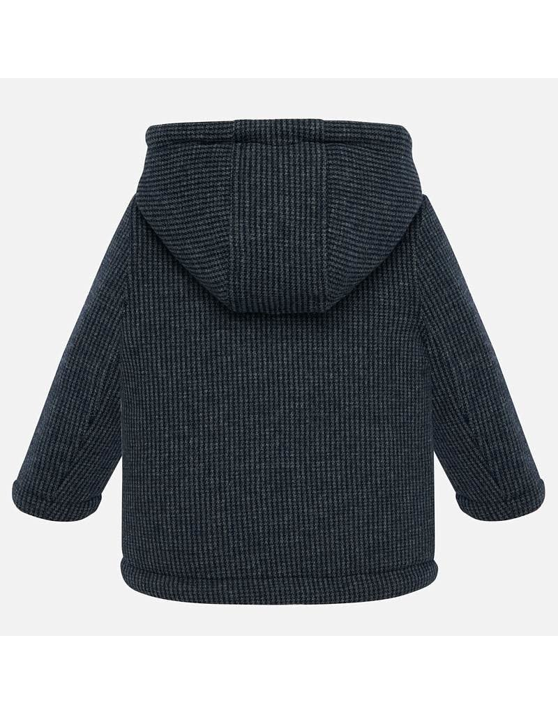 Mayoral Mayoral |Fleece Lined Knit Peacoat