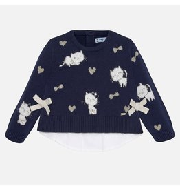 Mayoral Mayoral   Kittens Sweater in Navy