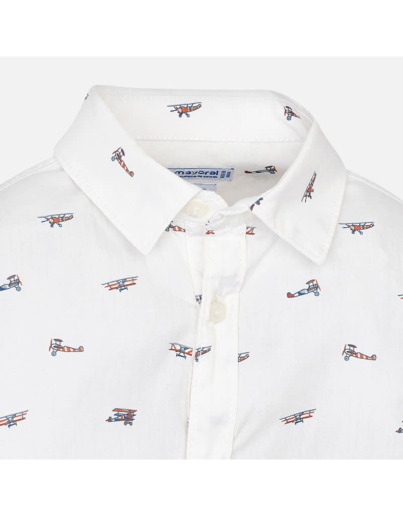 Mayoral Mayoral  Tiny Airplane Button Down