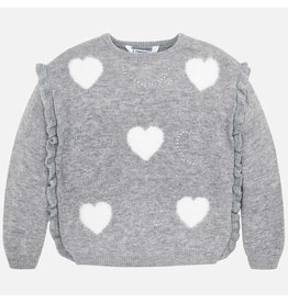 Mayoral Mayoral | Grey Hearts Sweater