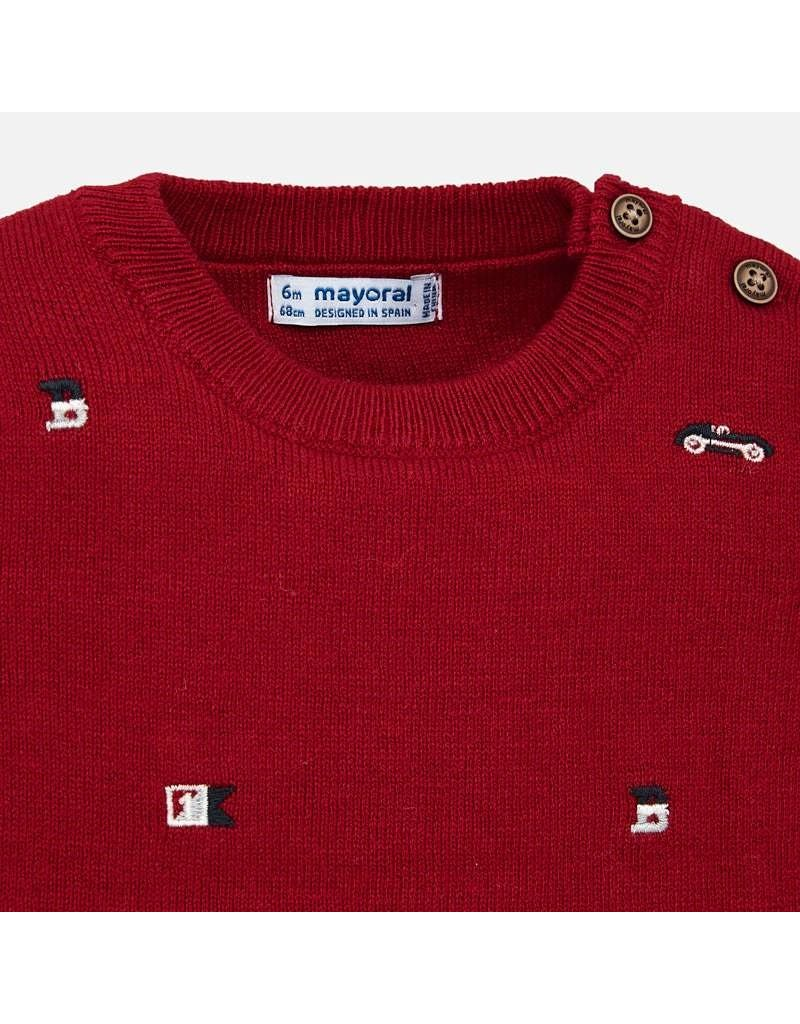 Mayoral Mayoral | Embroidered Cars Pullover