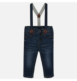 Mayoral Mayoral | Dark Wash Baby Jeans with Suspenders