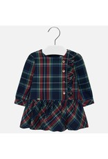 Mayoral Mayoral | Ruffled Plaid Baby Dress