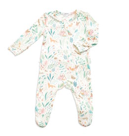 Angel Dear Angel Dear | Woodland Floral Zipper Footie