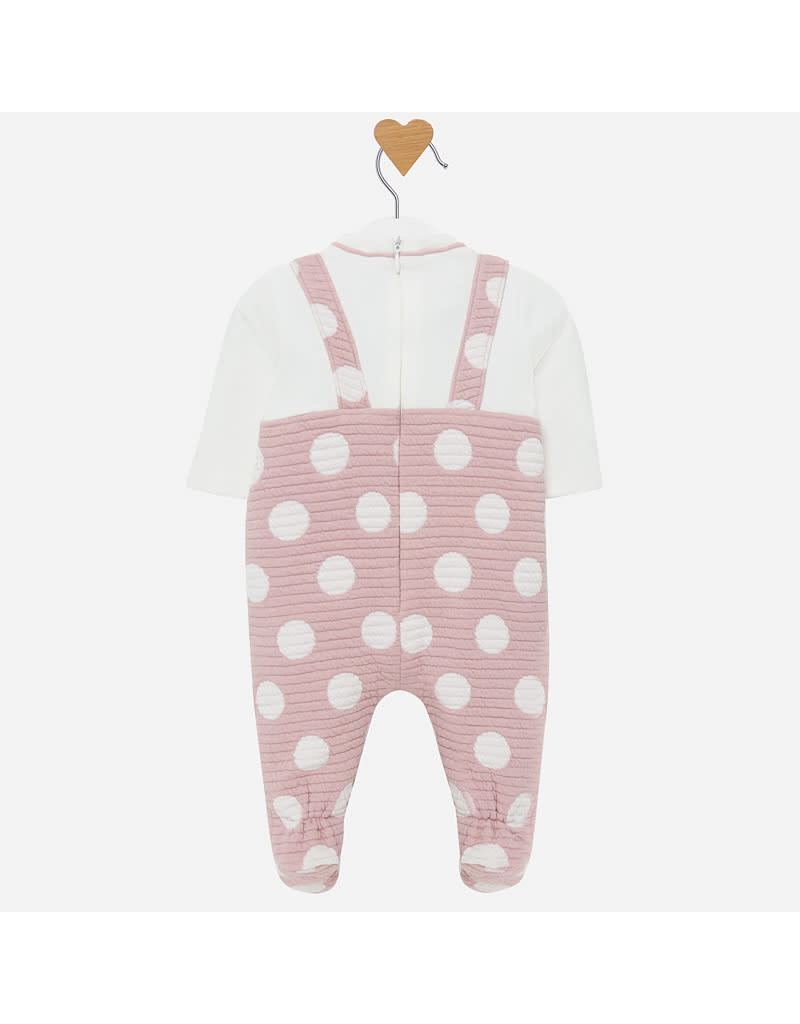 Mayoral Mayoral |Polka Dot Footed Overall