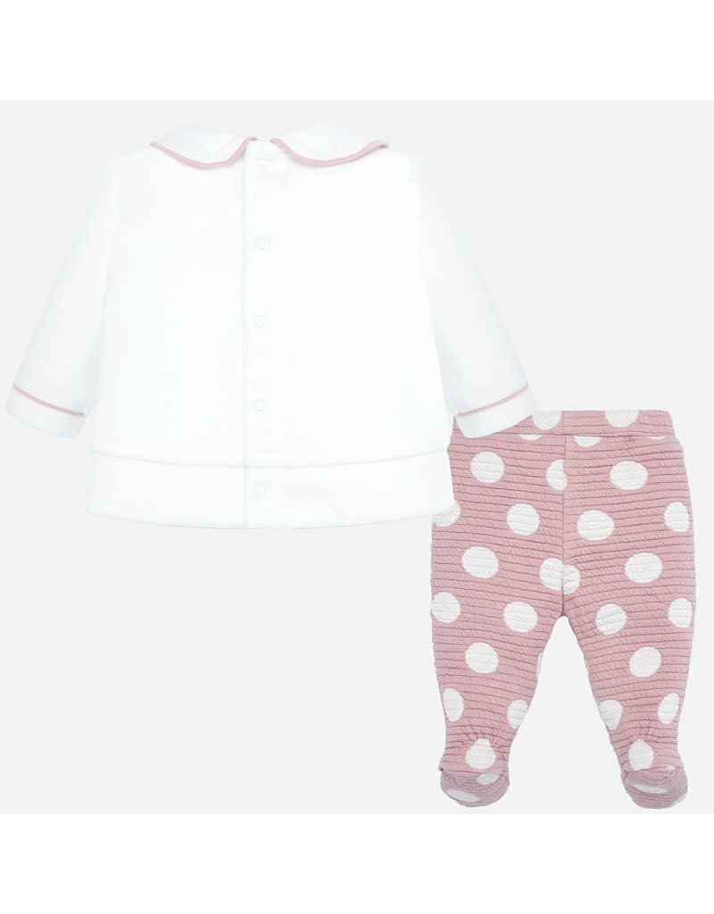 Mayoral Mayoral |Bunny Top & Footed Pant Set