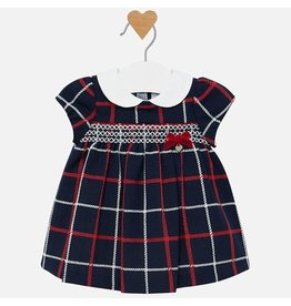 Mayoral Mayoral | Smocked Plaid Baby Dress