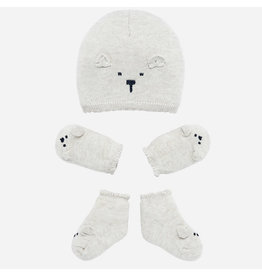 Mayoral Mayoral | Bear Hat, Mitts & Sock Set