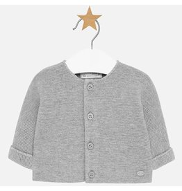 Mayoral Mayoral | Garter Stitch Cardigan in Grey