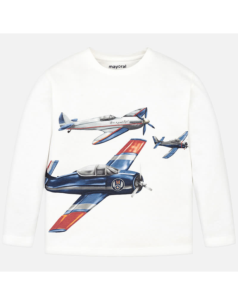 Mayoral Mayoral | Airplane Graphic Tee