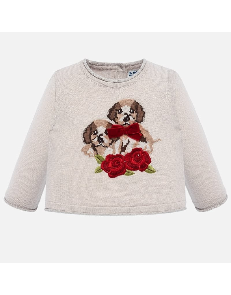 Mayoral Mayoral   Beige Dog Sweater