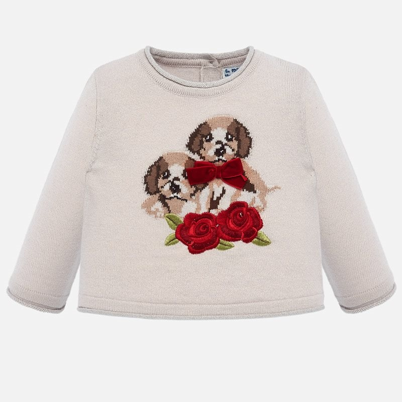 Mayoral Mayoral | Beige Dog Sweater