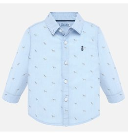 Mayoral Mayoral | Tiny Puppy Print Button Down
