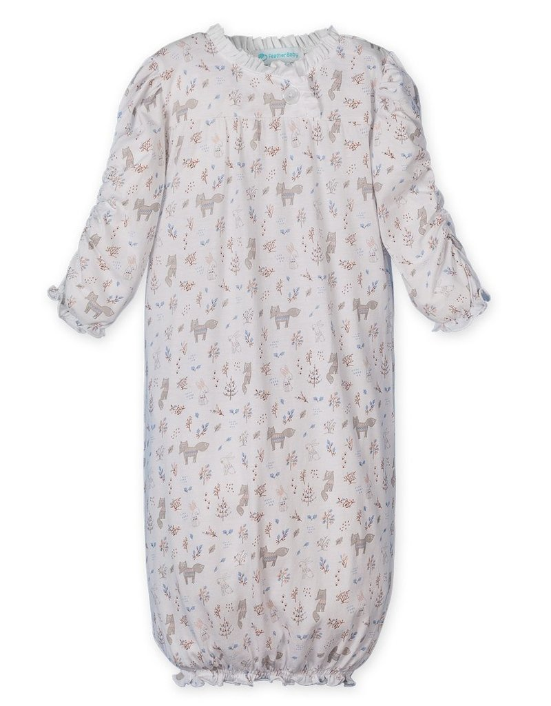 Feather Baby | Foxes & Bunnies Infant Gown