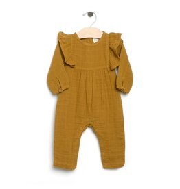 City Mouse City Mouse | Long Flutter Romper in Bronze