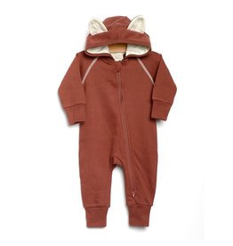 City Mouse City Mouse | Fox Hooded Romper in Rust