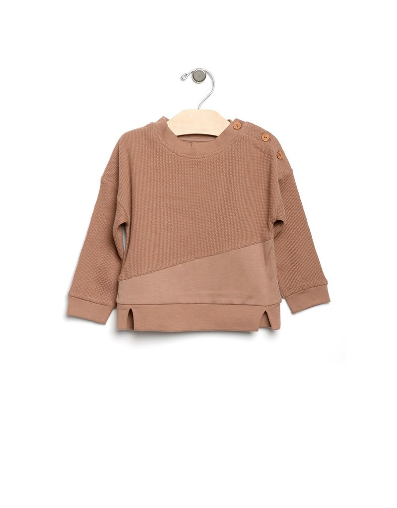 City Mouse City Mouse | Waffle Pullover in Caramel