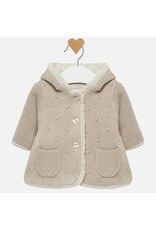 Mayoral Mayoral | Faux Fur Lined Baby Cardigan