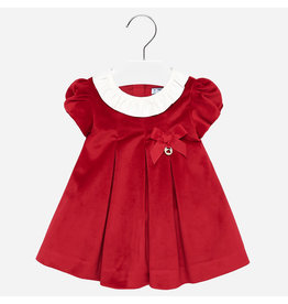 Mayoral Mayoral | Red Velvet Baby Dress