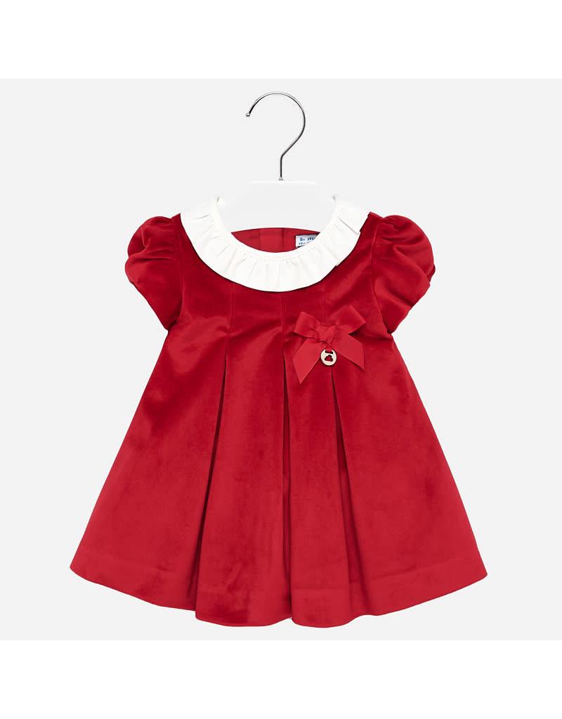 Mayoral Mayoral | Red Velvet Baby Dress