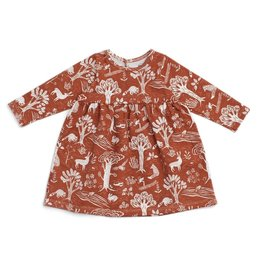 Winter Water Factory Winter Water Factory | Geneva Baby Dress in Forest Chestnut