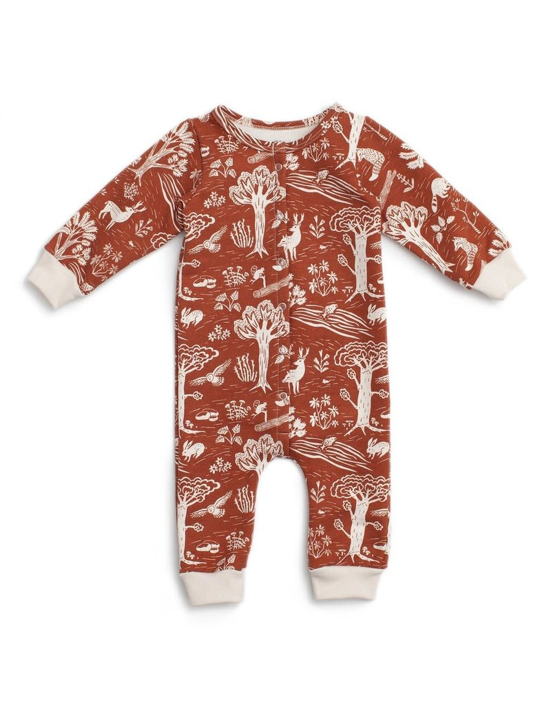 Winter Water Factory Winter Water Factory | Terry Forest Chestnut Jumpsuit