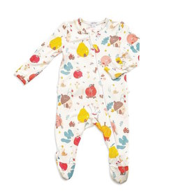 Angel Dear Angel Dear | Fruit Homes Ruffle Zipper Footie