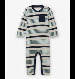 Hatley Hatley |Grey Stripe Baby Romper