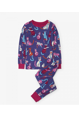 Hatley Hatley |Patchwork Kitty Organic Pajama Set