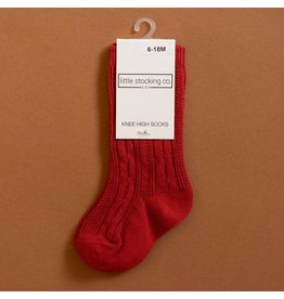 Little Stocking Co. Knee High Socks in Spiced Red