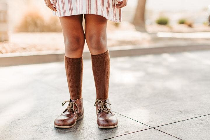 Chocolate 0-6 Months Sock Ons Socks