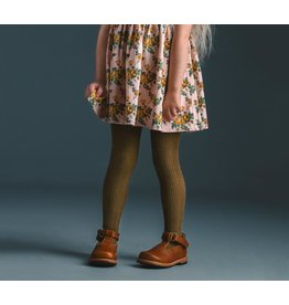 Little Stocking Co. Cable Knit Tights in Olive