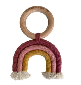 Macrame Rainbow Teether | Mustard & Berry