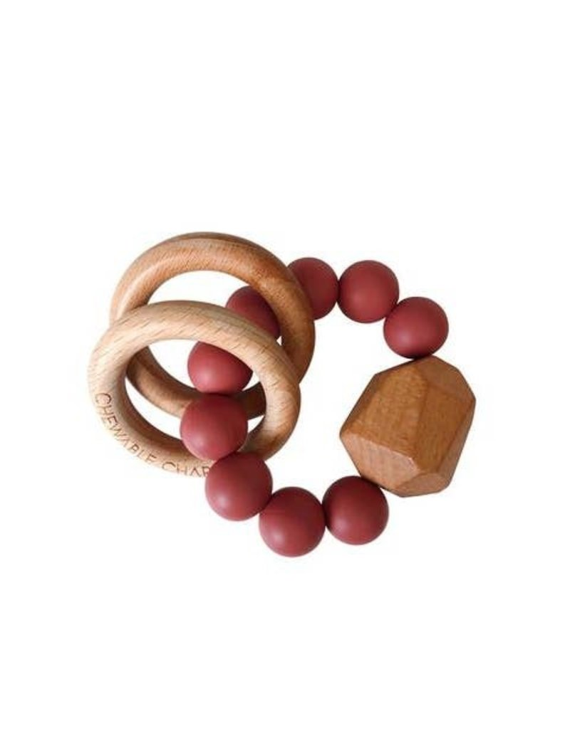 Hayes Silicone + Wood Teether Ring | Cedarwood