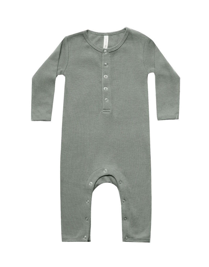 Quincy Mae | Ribbed Jumpsuit in Eucalyptus