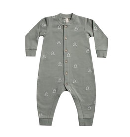 Quincy Mae | Fleece Jumpsuit in Eucalyptus