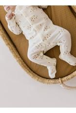 Quincy Mae|Full Snap Footie in Ivory