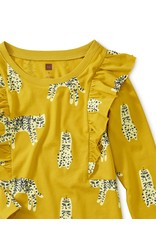 Tea Collection Tea Collection | Leopard Cats Ruffle Sleeve Dress