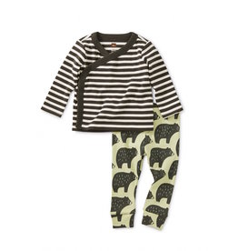 Tea Collection Tea Collection | Cuddly Cubs Wrap Top Outfit