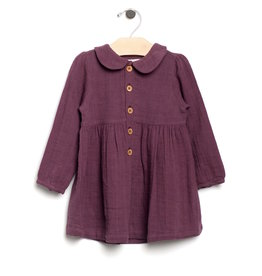 City Mouse City Mouse | Muslin Collar Dress in Fig