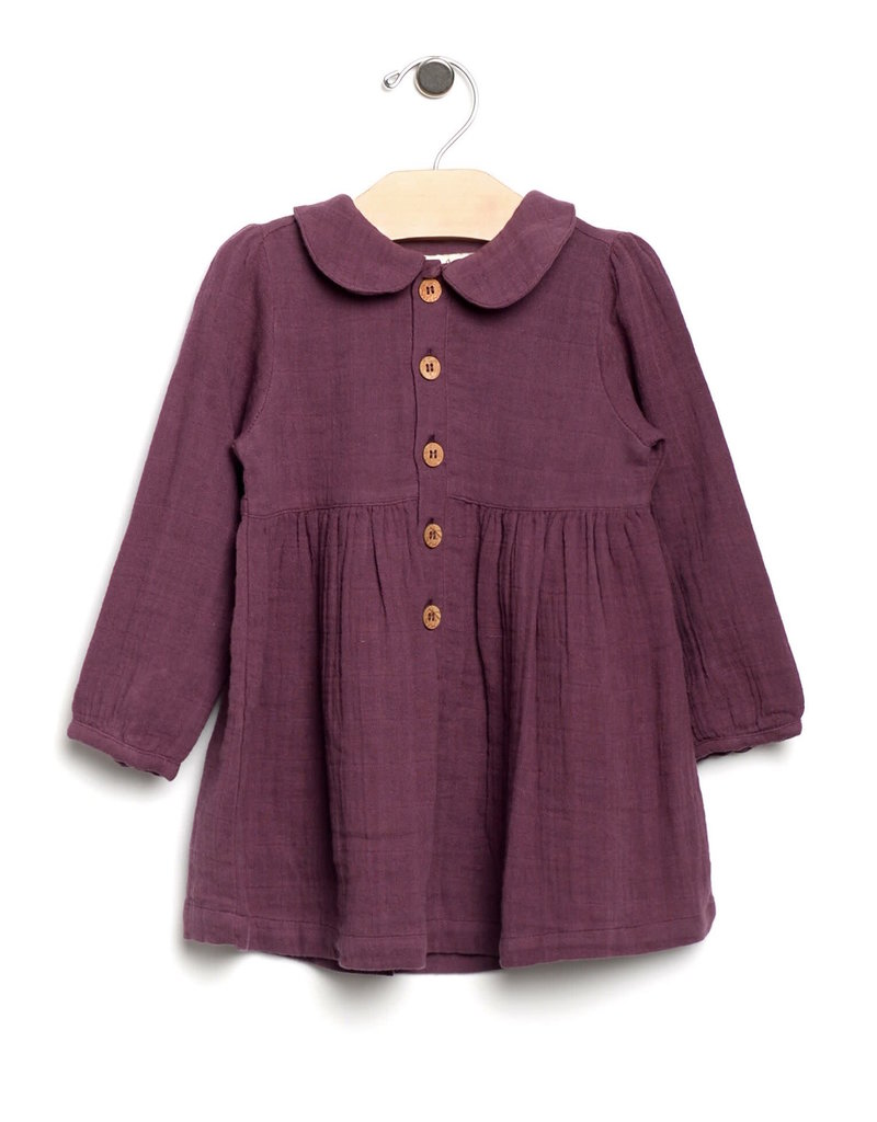 City Mouse City Mouse   Muslin Collar Dress in Fig