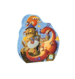 Djeco Djeco | Vaillant & Dragon 54pc Puzzle
