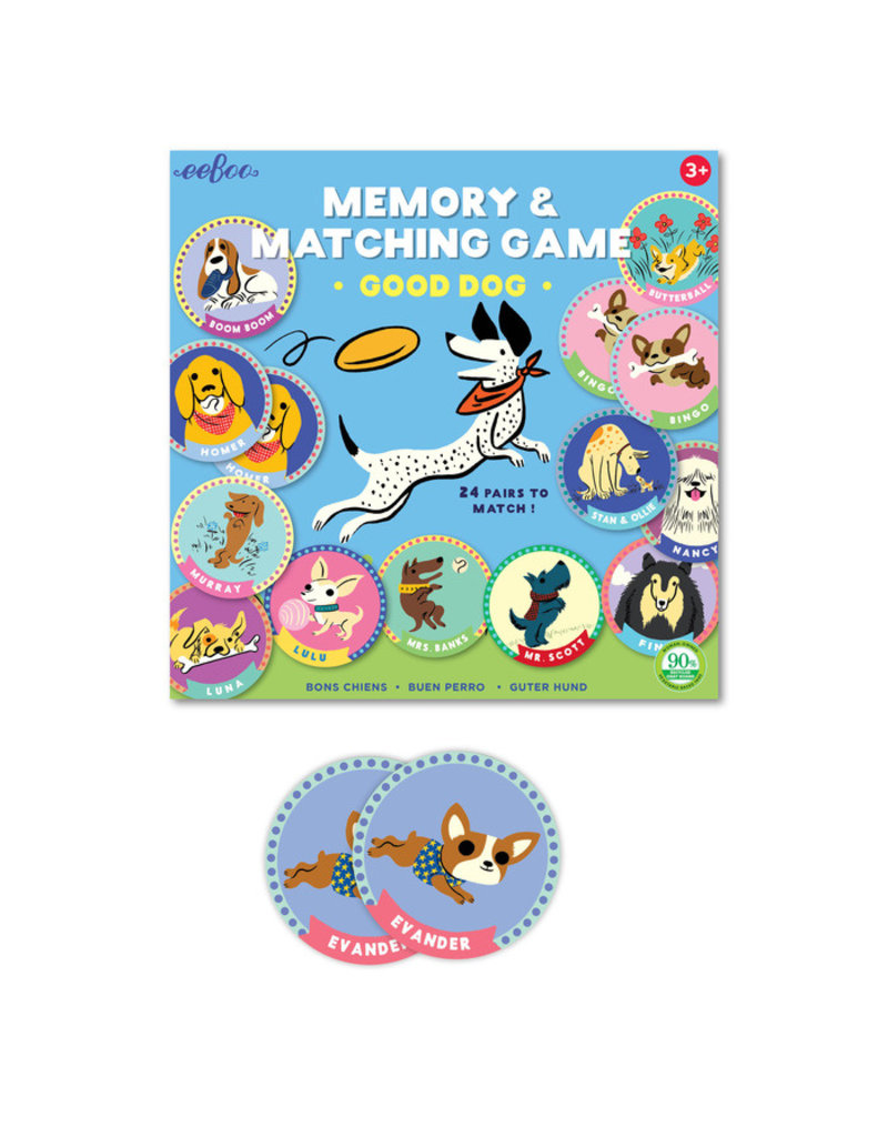 eeBoo eeboo |Good Dog Memory Matching Game