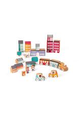 Janod Janod | Kubix 22 Piece City Set