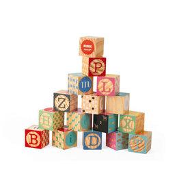 Janod Janod | Kubix 16 Carved Alphabet Blocks