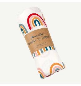 Oliver & Rain Oliver & Rain | Rainbow Print Organic Swaddle