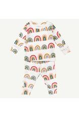 Oliver & Rain Oliver & Rain | Rainbow 2 Piece Pajama Set