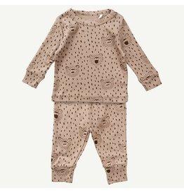 Oliver & Rain Oliver & Rain | Bear 2 Piece Pajama Set