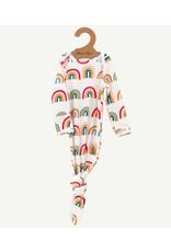 Oliver & Rain Pima Cotton Baby Gown | Rainbow Print