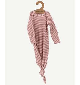 Oliver & Rain Pima Cotton Baby Gown | Rose Mini Stripe
